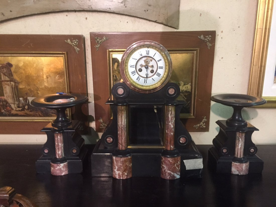 French 19th C Mantel Garniture