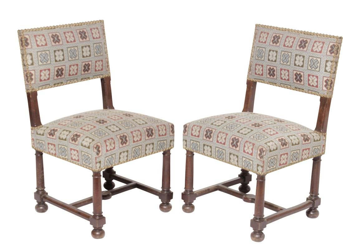Pair 17th-Century Style Chairs
