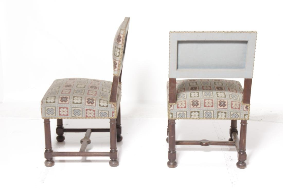 Pair 17th-Century Style Chairs - 4