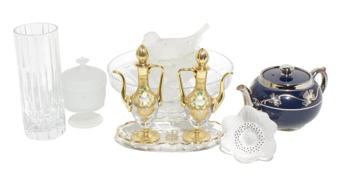 Baccarat Vase and Bowl