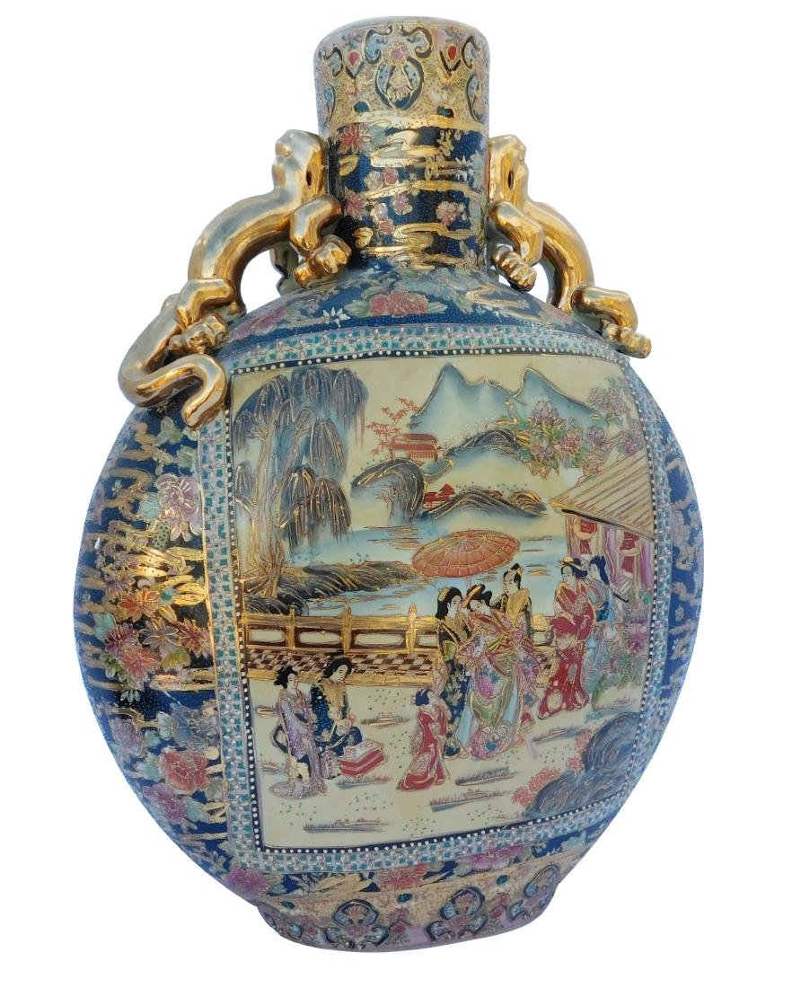 Monumental Chinese Porcelain Moon Flask