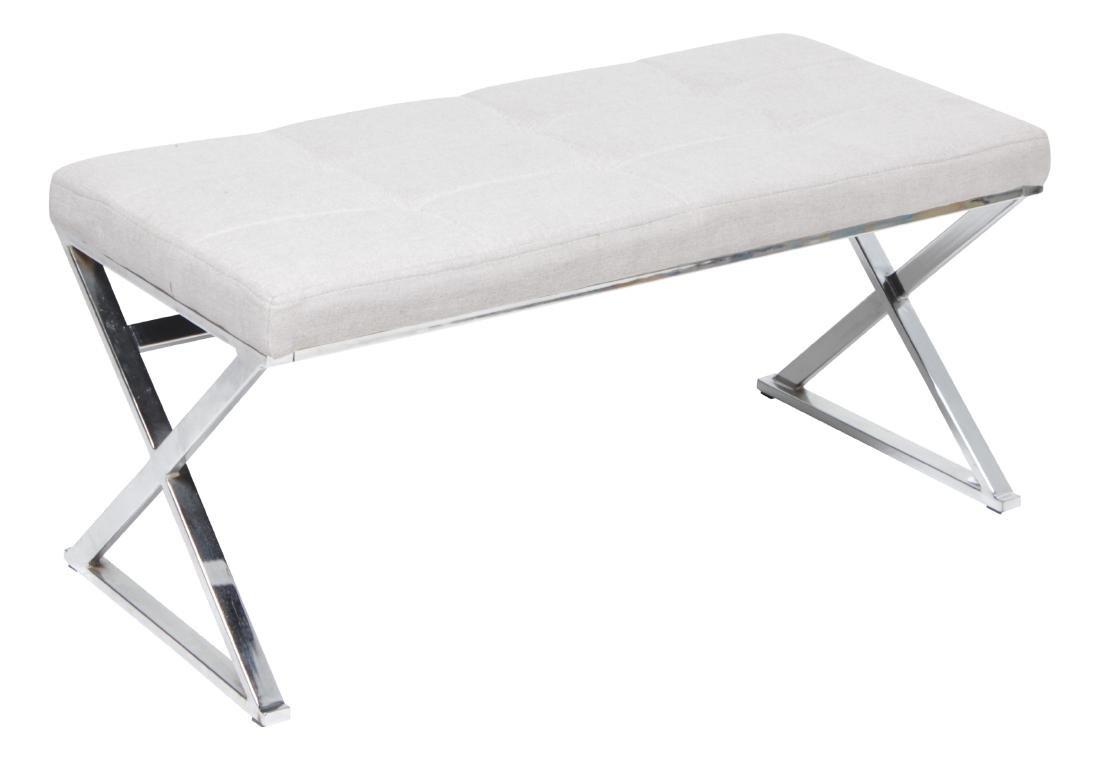 Chrome X Upholstered Bench