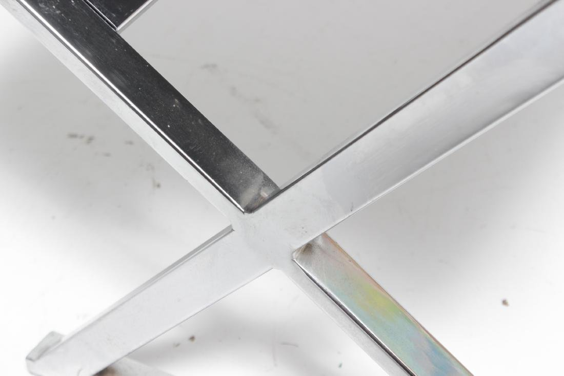 Chrome X Upholstered Bench - 5
