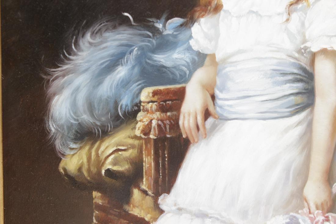Decorative 19th C. Portrait of a Woman - 3