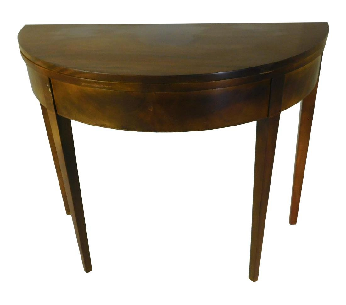 18th C Demilune Games Table