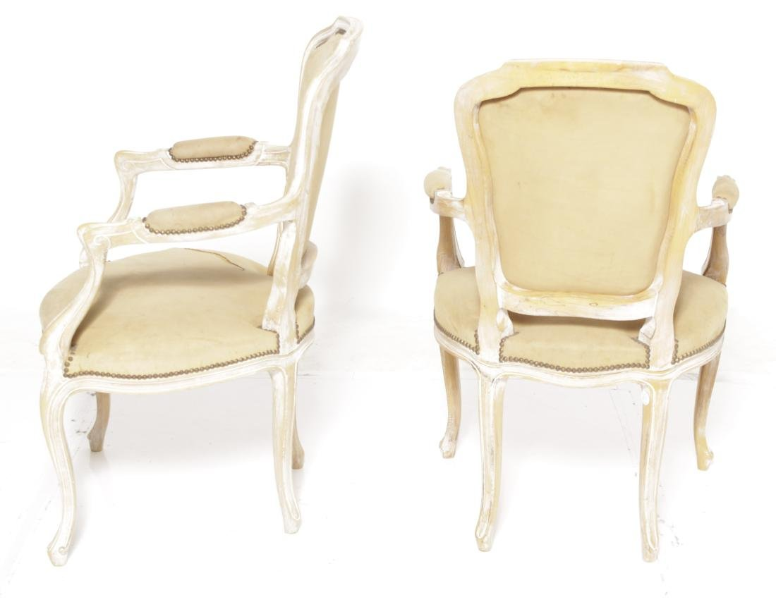 Pair Louis XV Style Upholstered Fautueils - 6