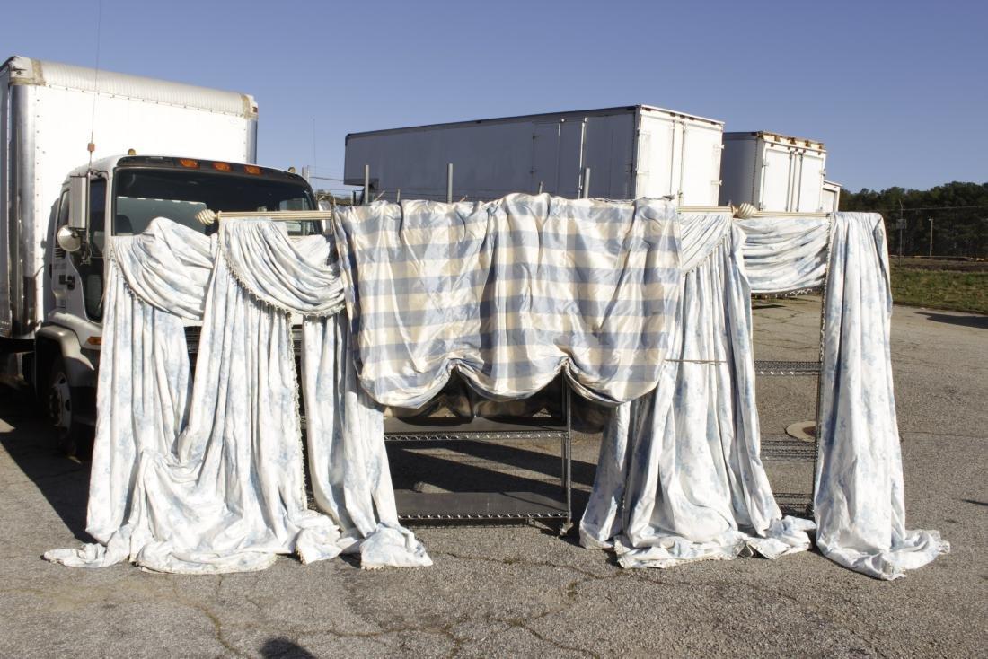 Ensemble of Blue Curtains
