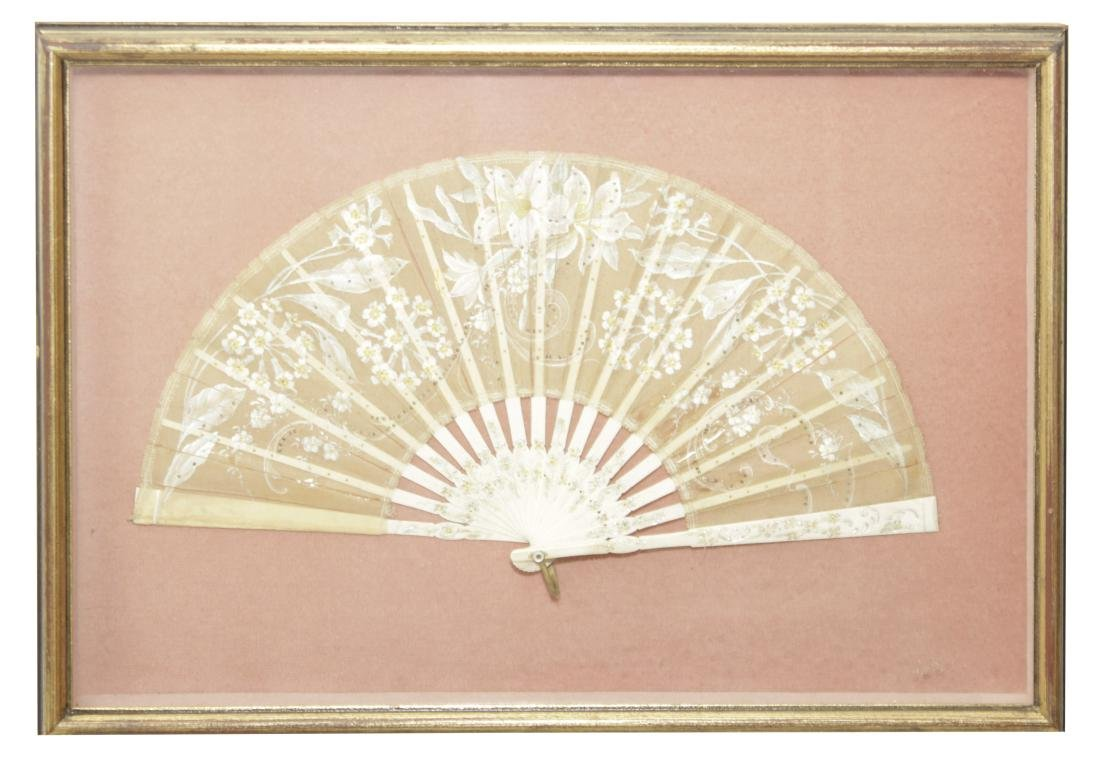 Framed Victorian Fan