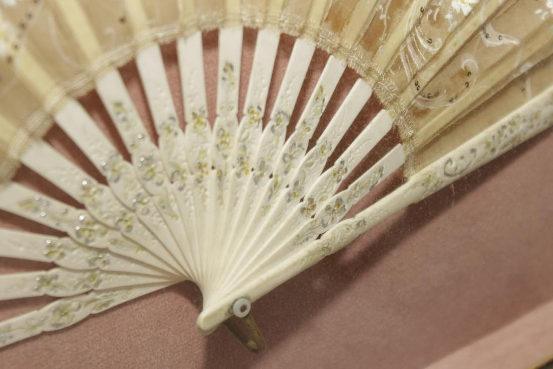 Framed Victorian Fan - 4