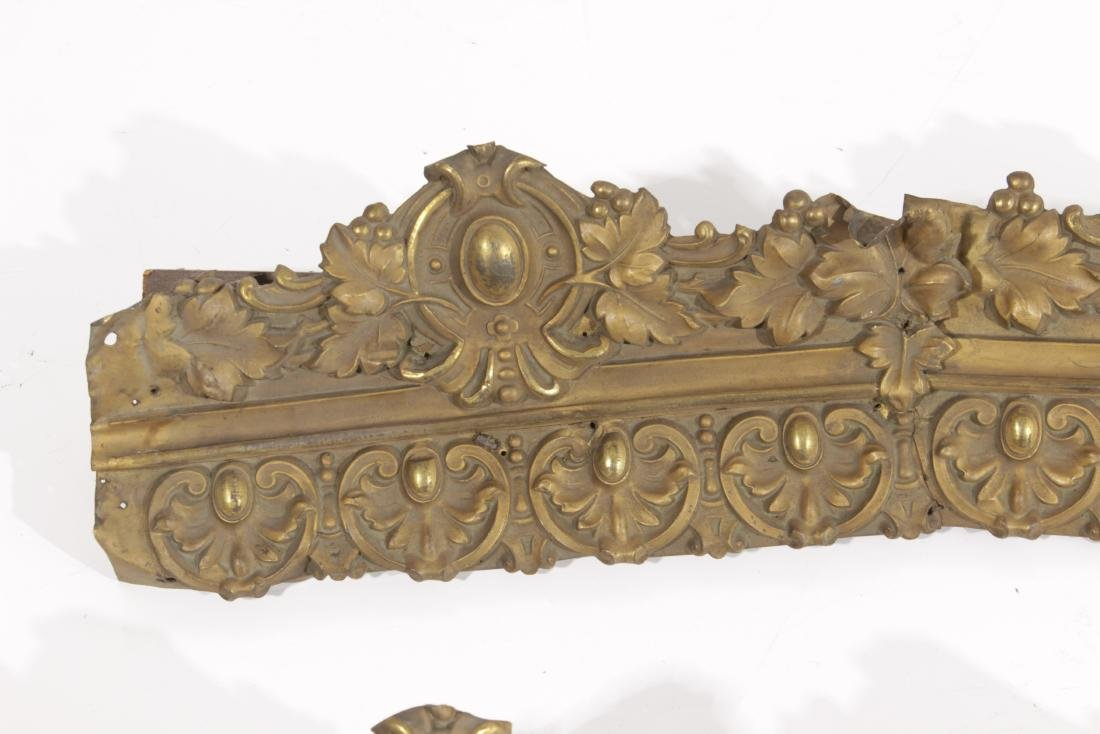 Embossed Gilt Metal Trim - 2