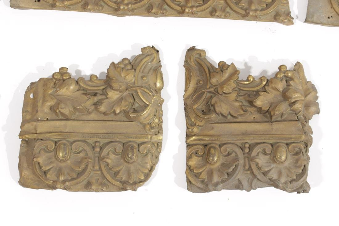Embossed Gilt Metal Trim - 4