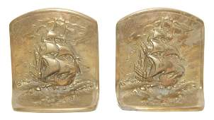 Pair Bronze Bookends
