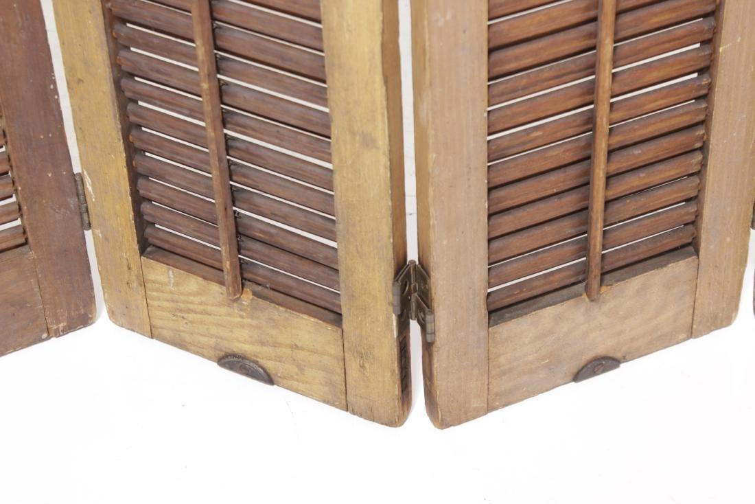 Four Pine Window Shutters - 4