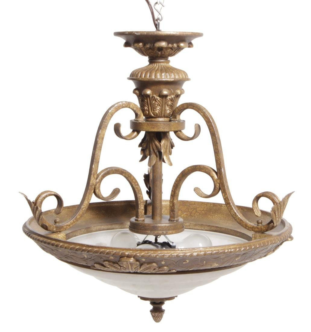 Chandelier with Frosted Glass Globe