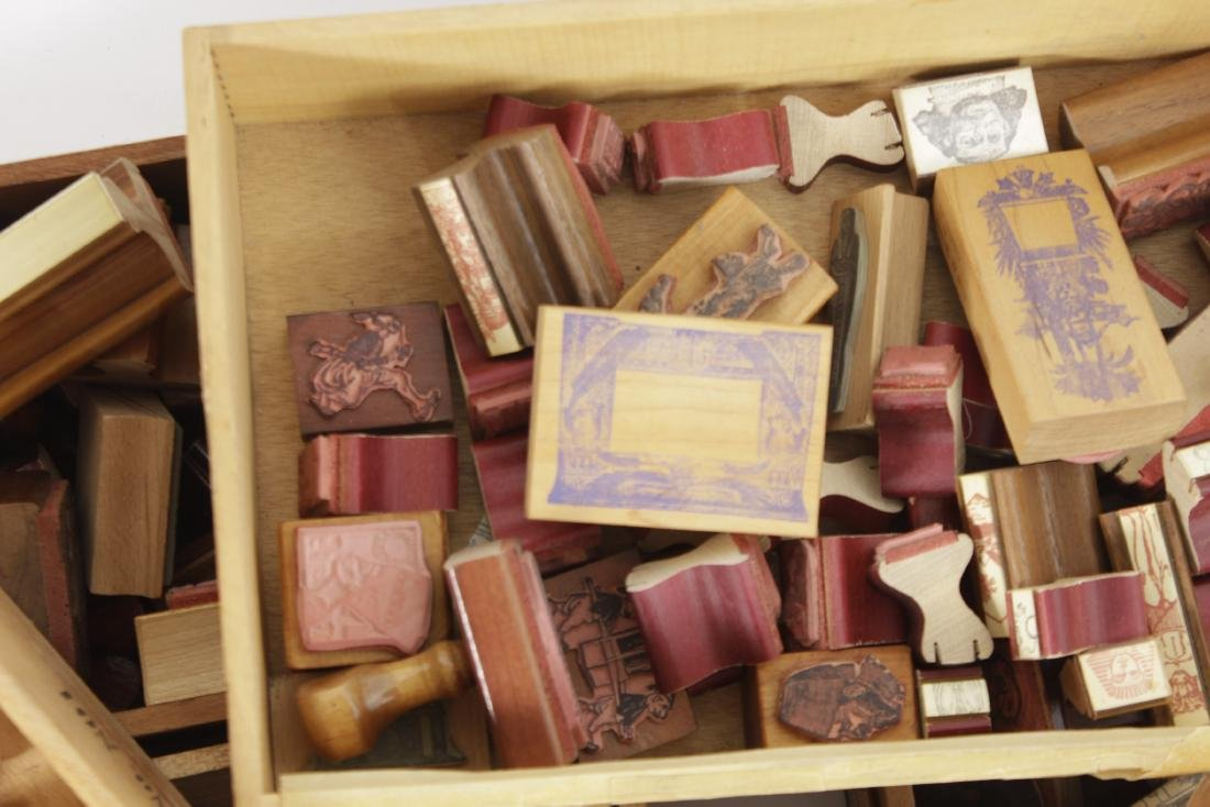 Box Lot of Rubber Stamps - 4