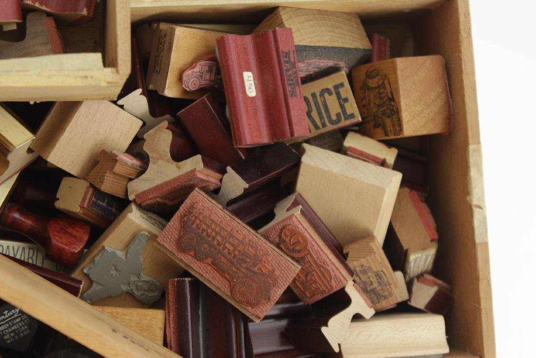 Box Lot of Rubber Stamps - 5