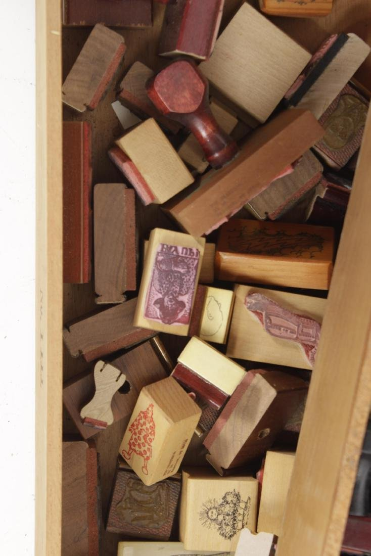 Box Lot of Rubber Stamps - 6