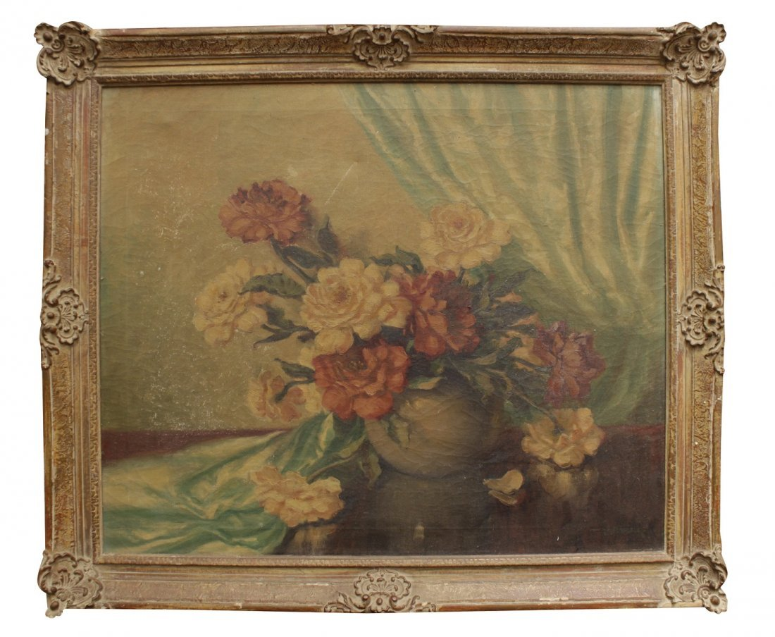 20th C. Floral Still Life Painting