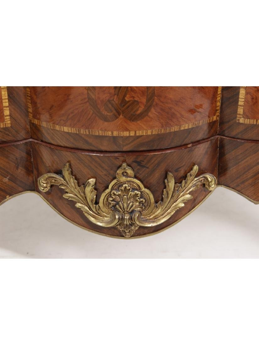 Unusual Bombe Marquetry Commode - 2