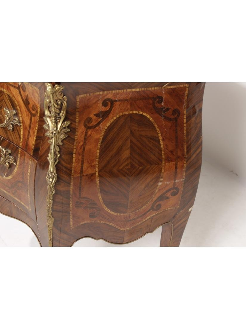 Unusual Bombe Marquetry Commode - 8