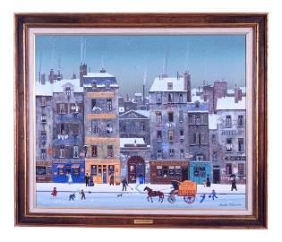 Michel Delacroix (French, 1933 - ) Oil On Canvas