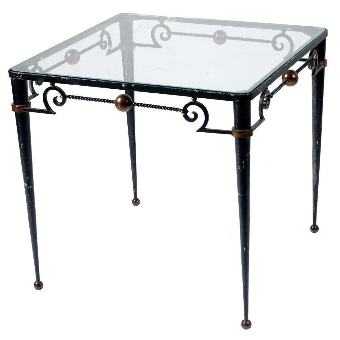 Gilbert Poillerat Wrought Iron Table