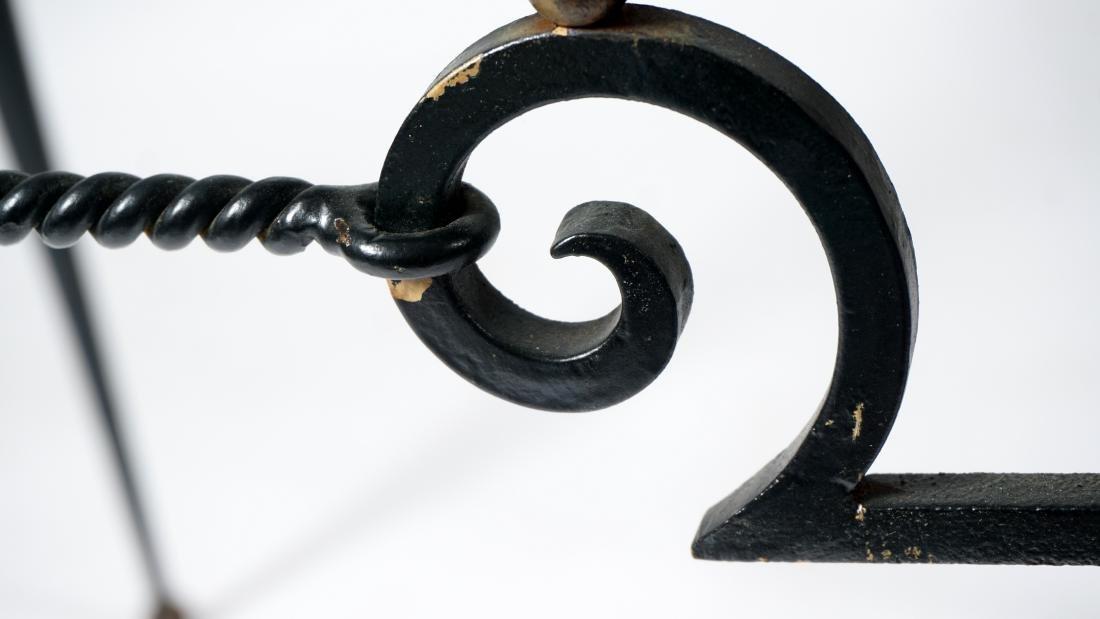 Gilbert Poillerat Wrought Iron Table - 5