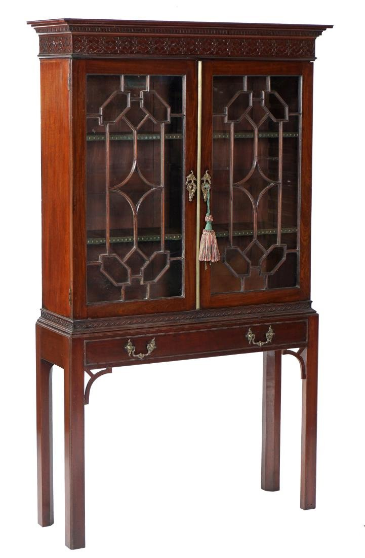 Geo III Mahogany Chinese Chippendale Bookcase