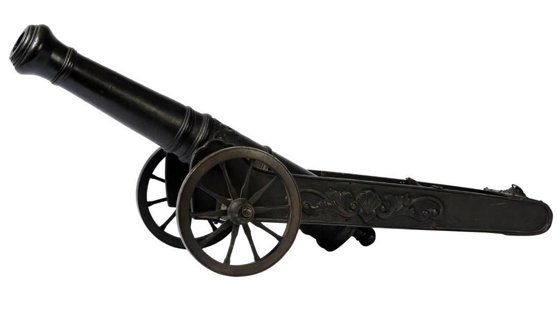 Antique Bronze Signal Cannon