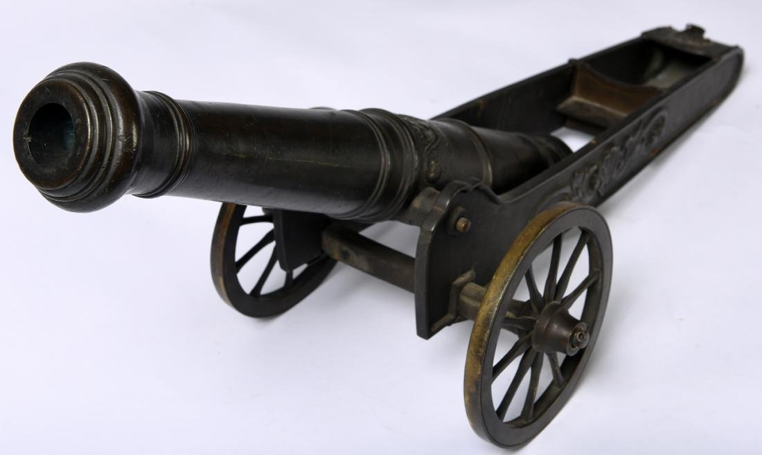 Antique Bronze Signal Cannon - 2