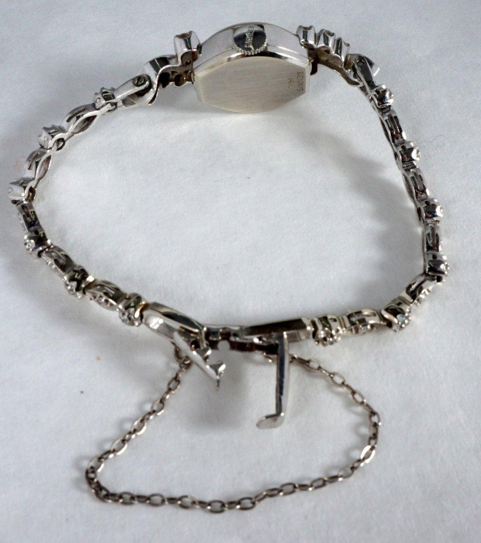 Vintage Ladies Benrus 14K Gold & Diamond Watch - 2