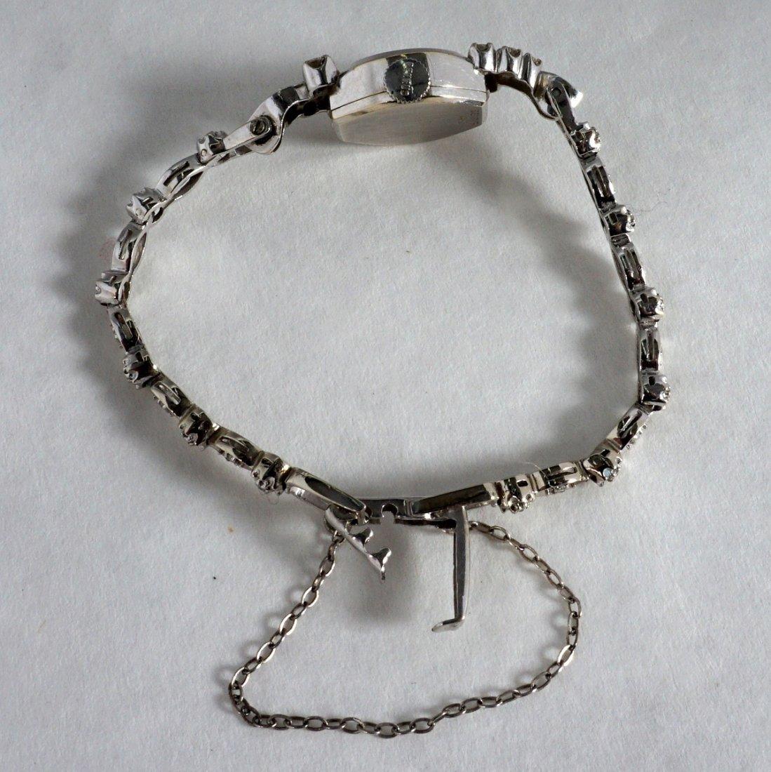 Vintage Ladies Benrus 14K Gold & Diamond Watch - 3