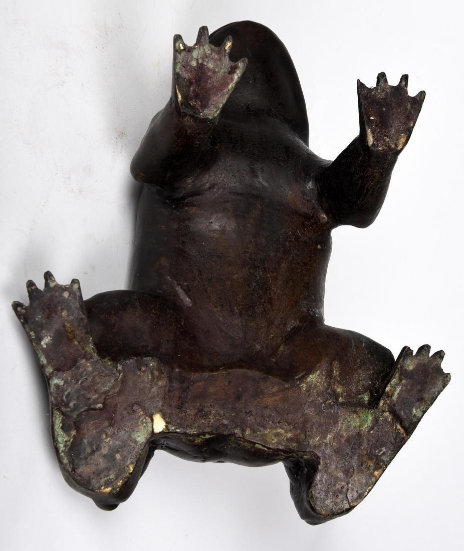 Pair Asian Bronze Frogs - 5