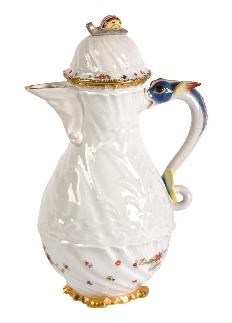 Meissen Serpent Handle Coffee Pot