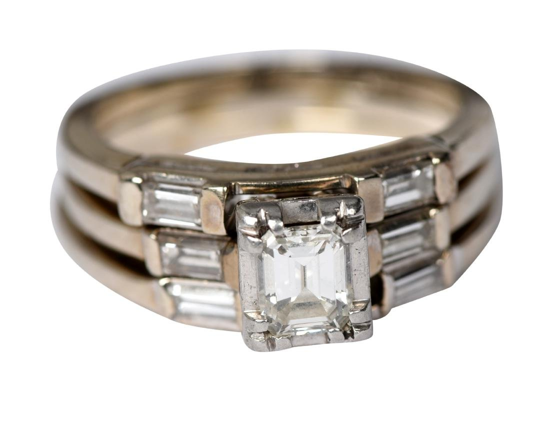 Ladies 14K Gold And Diamond Ring with Enhancers