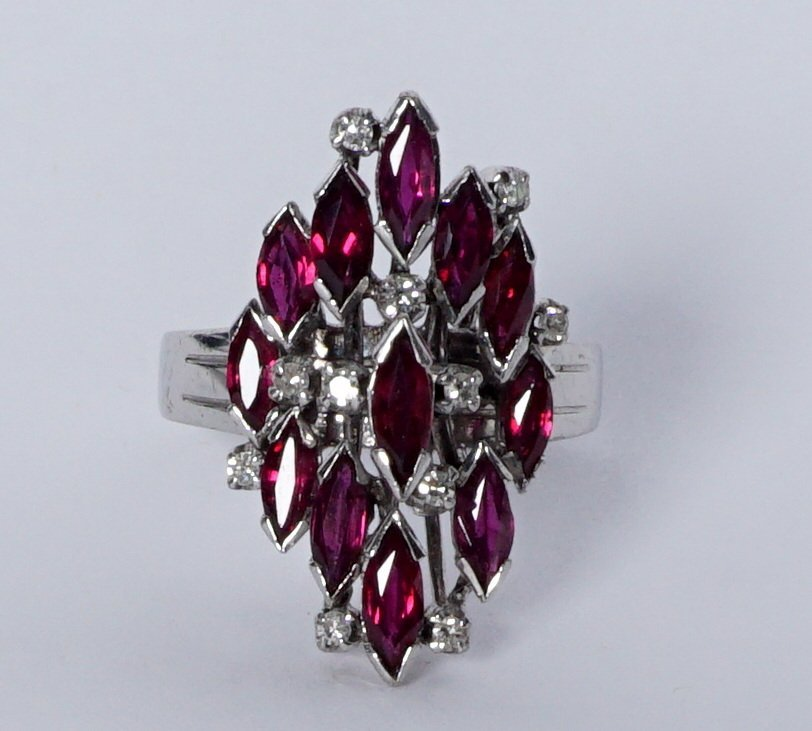 Ladies Gold Ensemble 18K 14K Ring Earrings Pendant - 6