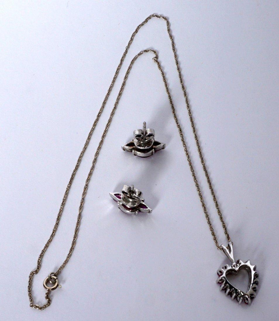 Ladies Gold Ensemble 18K 14K Ring Earrings Pendant - 7