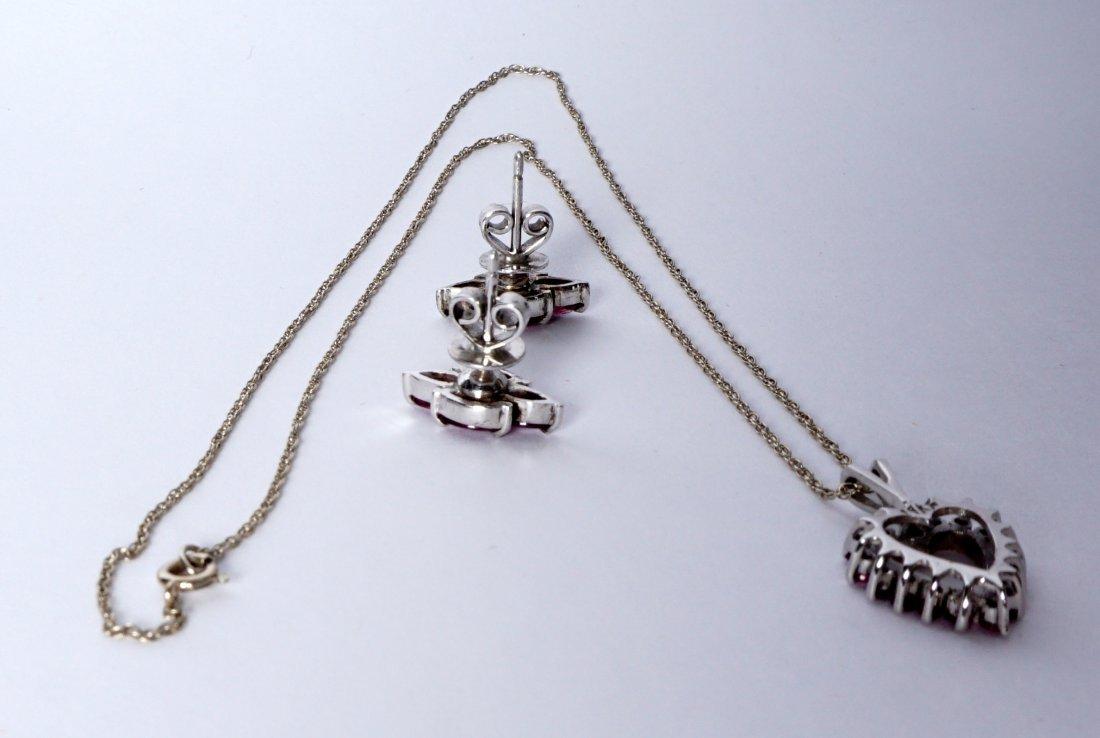 Ladies Gold Ensemble 18K 14K Ring Earrings Pendant - 8