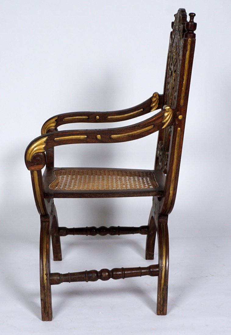 Pr Anglo-Indian Or British Colonial Armchairs - 3
