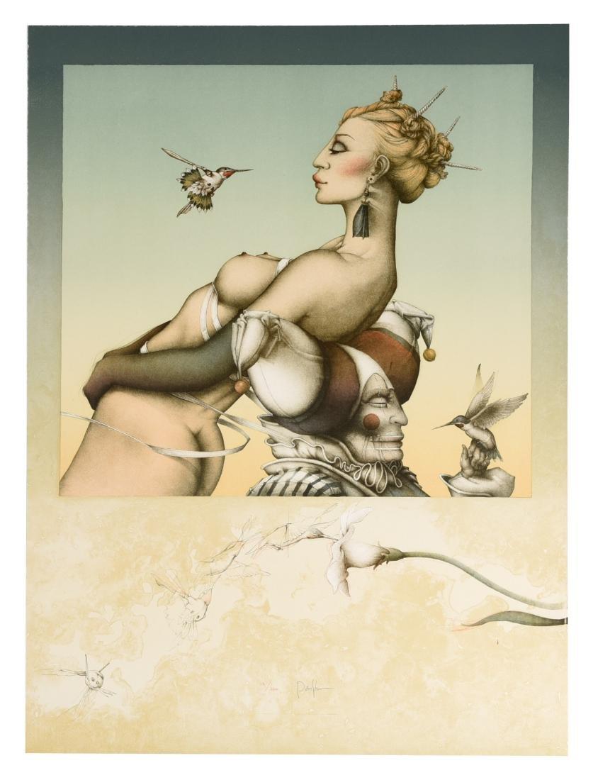 "Michael Parkes Stone Lithograph ""Nectar"" #66/250"