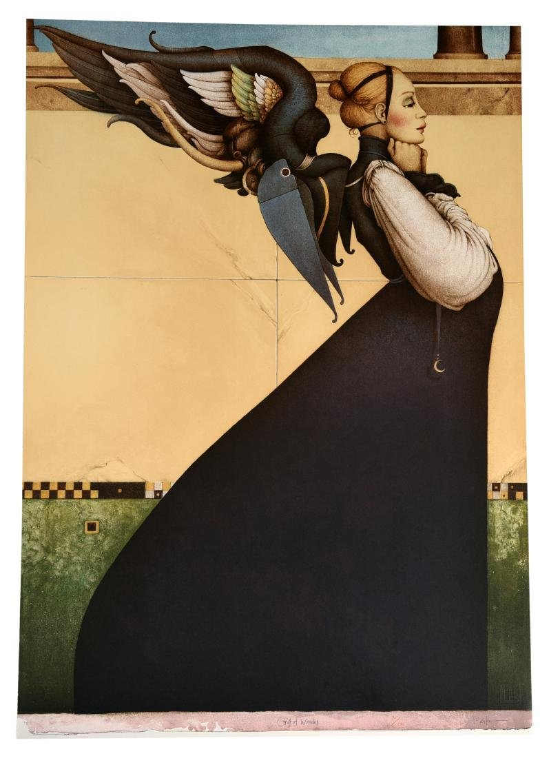 """Michael Parkes Stone Lithograph """"Gift Of Wonder"""""""