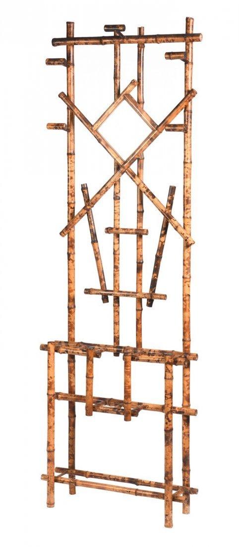 Burnt Bamboo Hall Rack