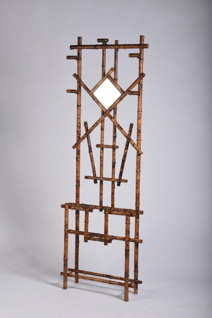 Burnt Bamboo Hall Rack - 2