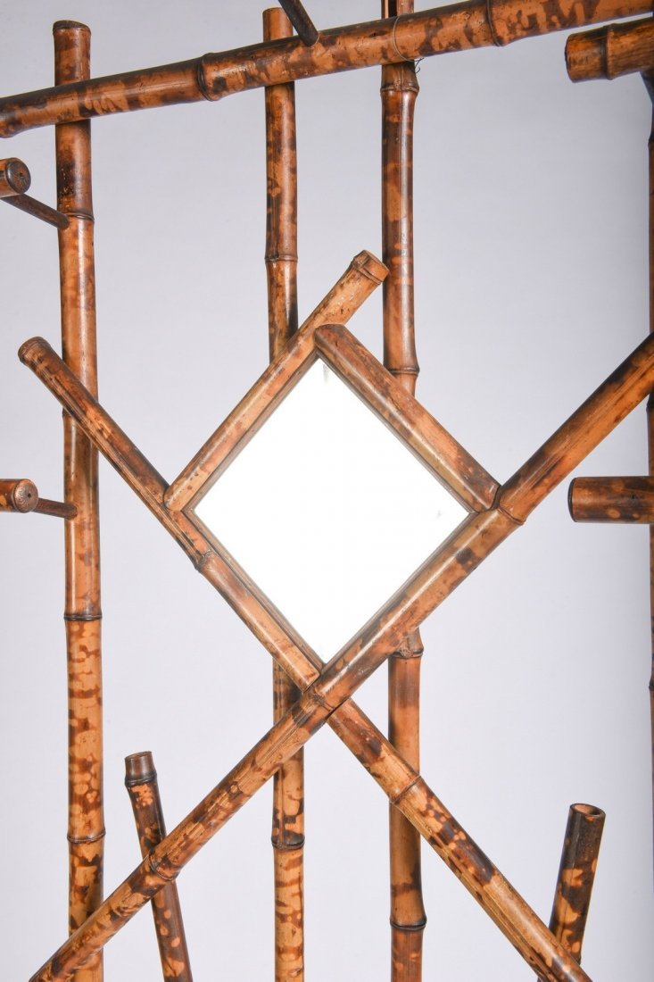 Burnt Bamboo Hall Rack - 3