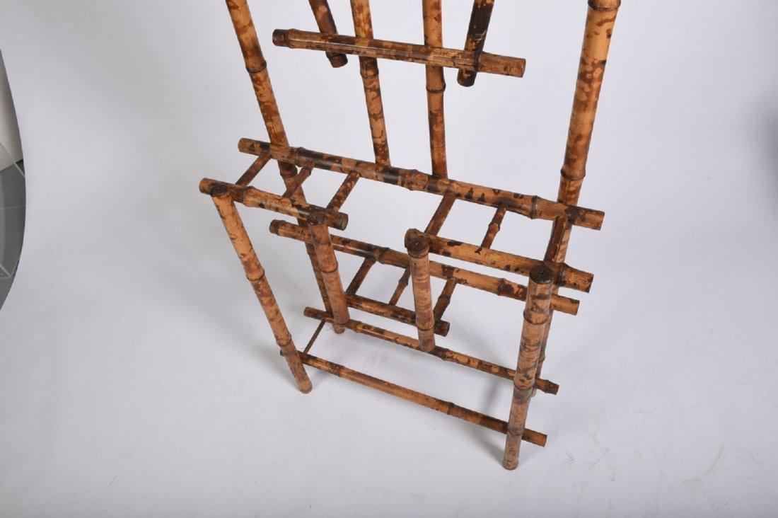 Burnt Bamboo Hall Rack - 5