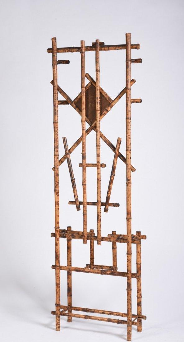 Burnt Bamboo Hall Rack - 6