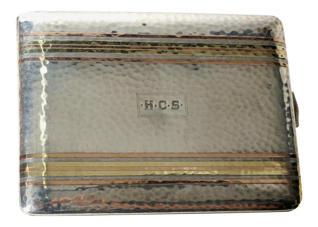Sterling Silver Deco Cigarette Case