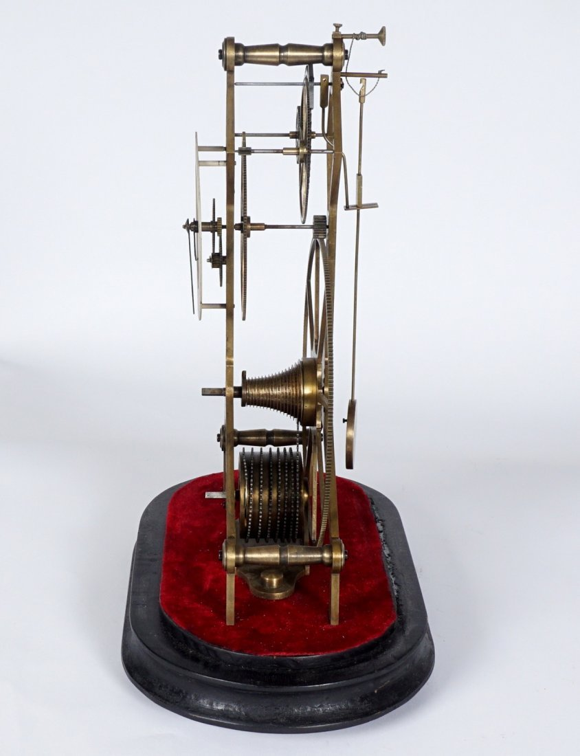 Brass Skeleton Clock - 2