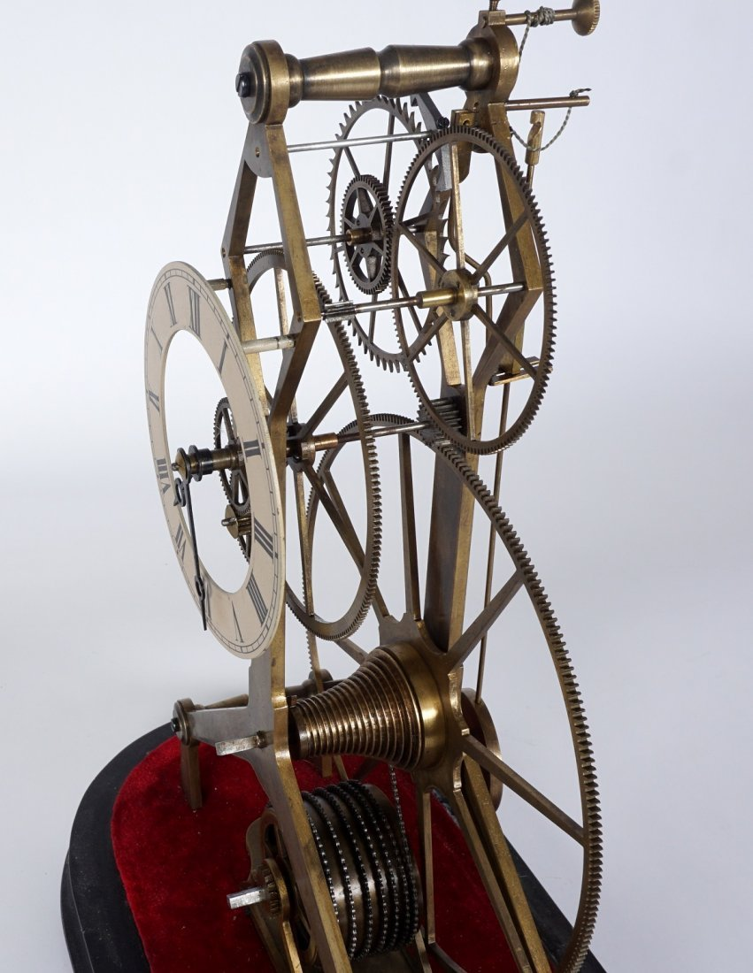 Brass Skeleton Clock - 3