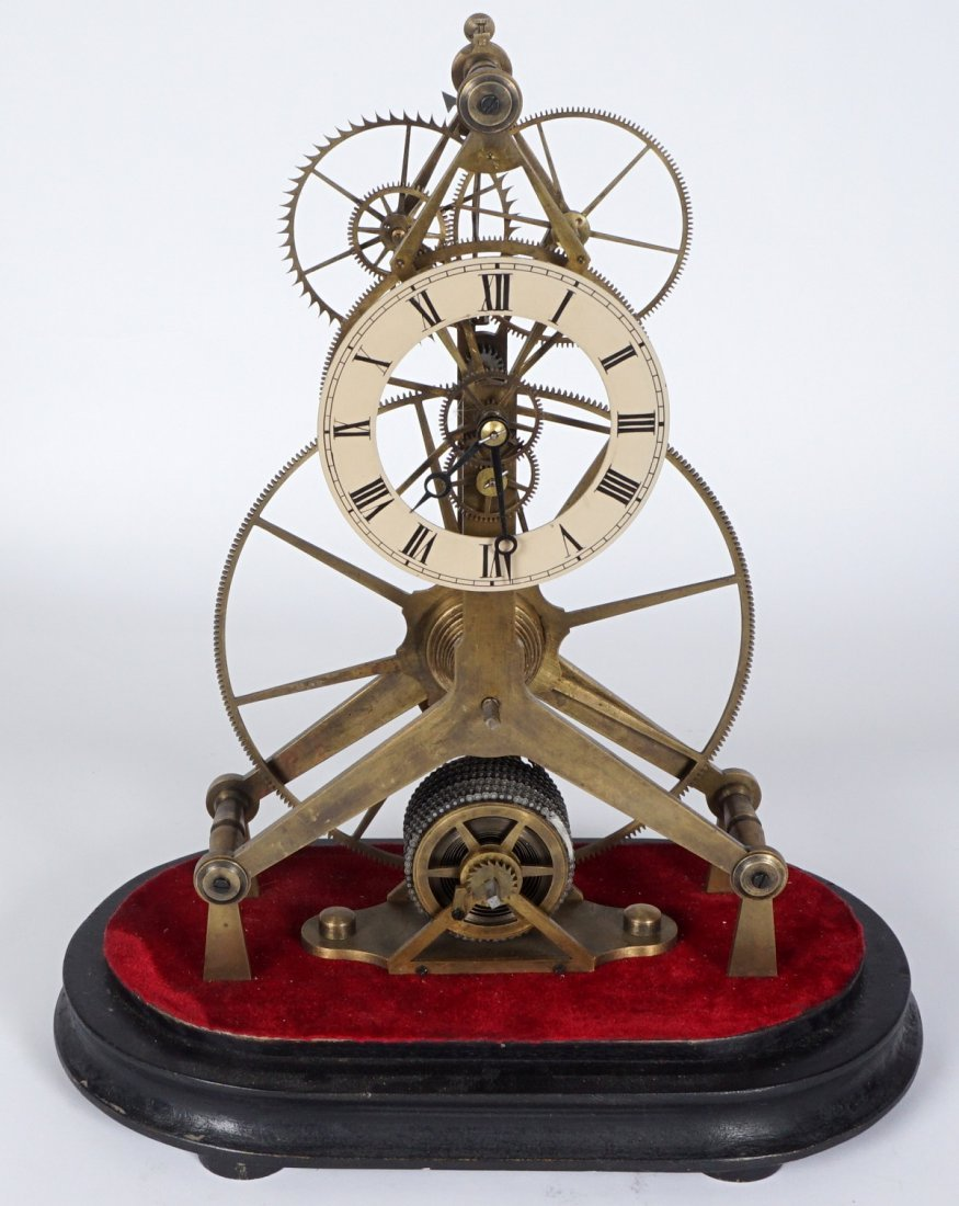 Brass Skeleton Clock - 5